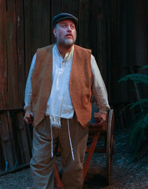 Doug Knoop as Tevye  in 'Fiddler on the Roof' at Snoqualmie Falls Forest Theater. — image credit: Brian Scott, courtesy of Snoqualmie Falls Forest Theater